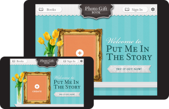 Put Me In The Story Photo Gift Book Mobile App